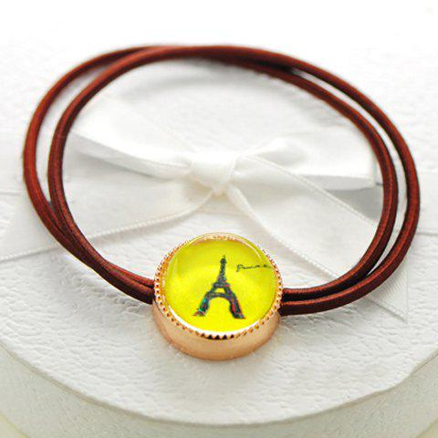 Simple Tower / Bear Pattern Pendant Elastic Hair Band For Women