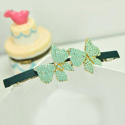 Chic Colored Diamante Bowknot Hairpin For Women