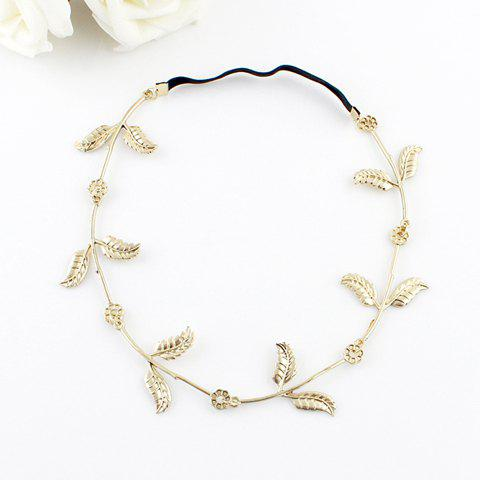 Bohemian Leaf Embellished Hairband For Women - RANDOM COLOR PATTERN