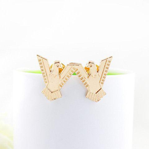 Pair Of Chic Style Eagle Shape Alloy Brooches - AS THE PICTURE