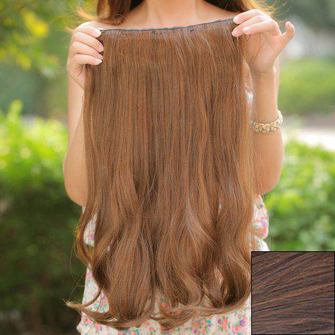 Charming Long Curled Fluffy High Temperature Fiber Women's Hair Extensions - LIGHT BROWN