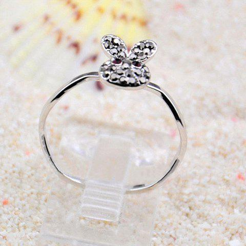 Cute Diamante Rabbit Embellished Alloy Ring For Women