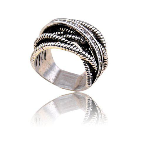Cross Hollow Out Design Alloy Ring - COLORMIX ONE SIZE