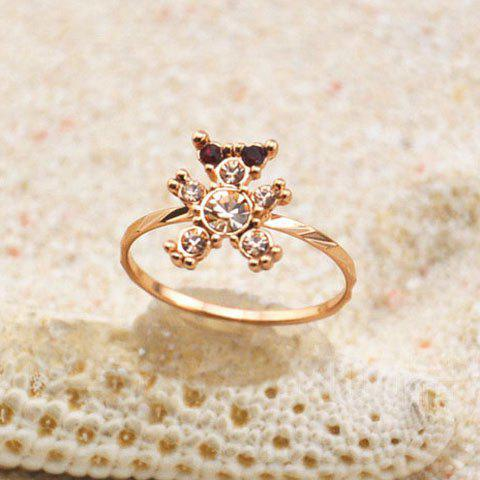 Fashion Diamante Little Bear Embellished Alloy Ring For Women