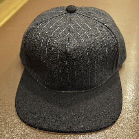 Elegant Striped Baseball Cap For Men and Women - DEEP GRAY