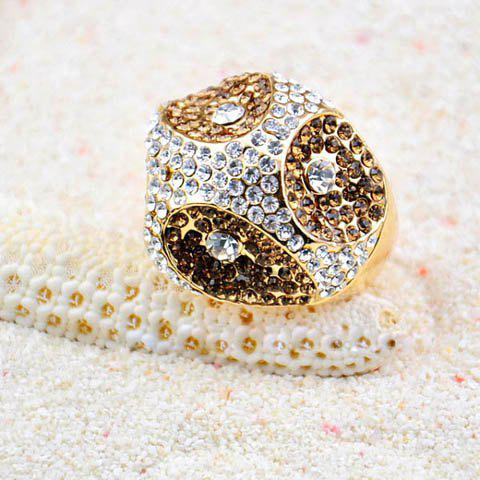 Characteristic Rhinestoned Irregular Alloy Ring For Women - ONE SIZE AS THE PICTURE