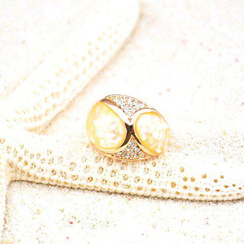 Fashion Diamante Shell Embellished Alloy Ring For Women