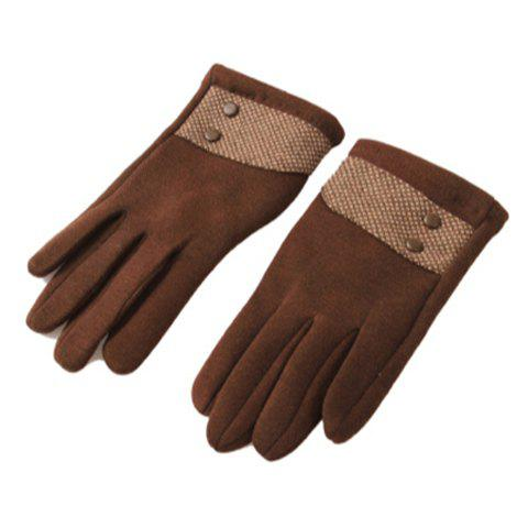 Pair of Fashion Simple Plaid Winter Gloves For Men