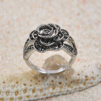 Diamante Rose Embellished Alloy Ring