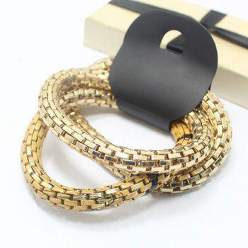 3 PCS of Stylish Pattern Decorated Round Bracelets For Women