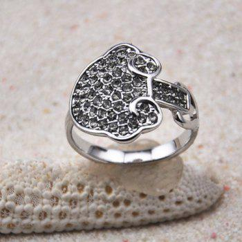 Cloud Embellished Diamante Alloy Ring