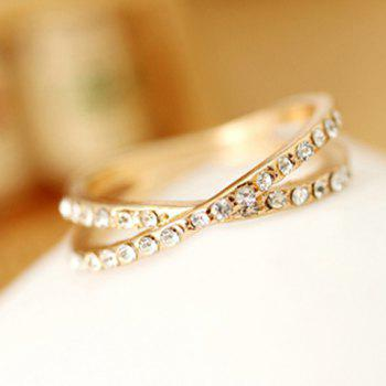 Beads Crossover Round Ring