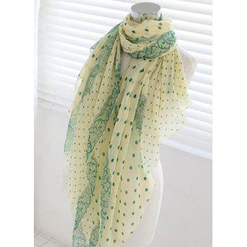 Chic Dot Embellished Long Scarf For Women