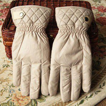 Pair of Versatile Warm Solid Color Gloves For Winter For Men