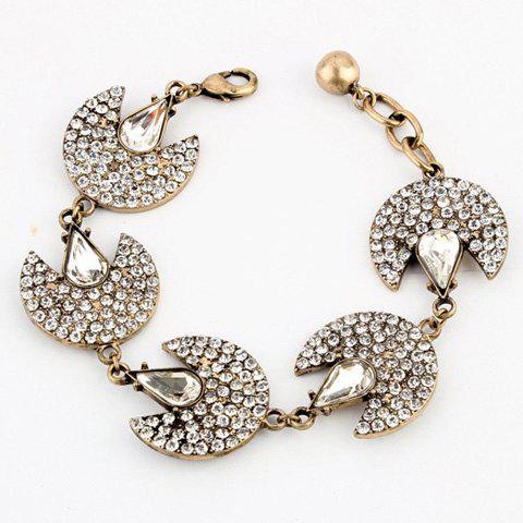 Retro Style Faux Crystal Embellished Chain Bracelet For Women - AS THE PICTURE