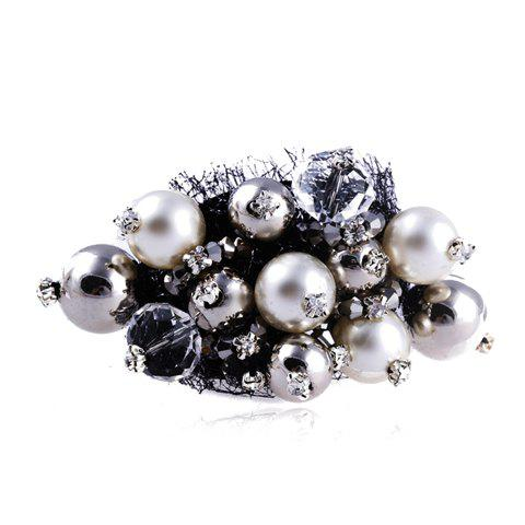 Stylish Rhinestone Faux Pearl Decorated Brooch For Women - AS THE PICTURE