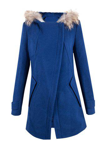 Elegant Turn-Down Collar Long Sleeve Solid Color Hooded Coat For Women ботинки nobbaro ботинки без каблука