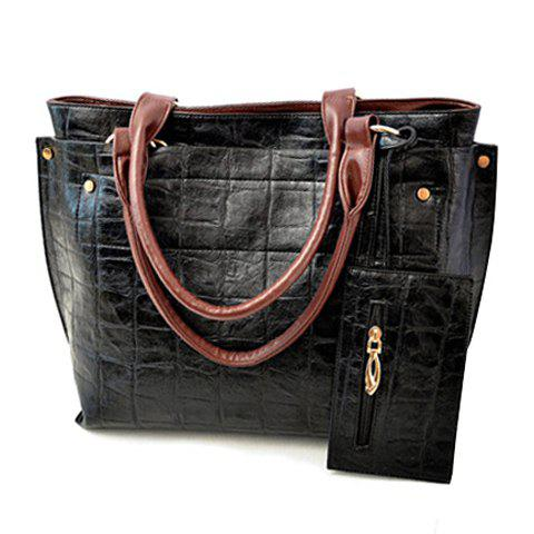 Street Style Stone Pattern and Pendant Design Shoulder Bag For Women