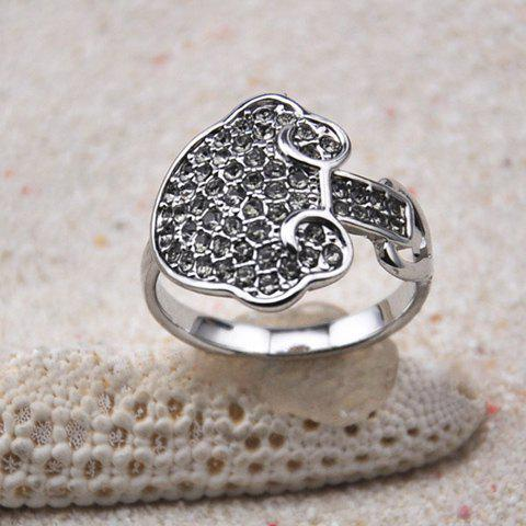 Cloud Embellished Diamante Alloy Ring - AS THE PICTURE ONE SIZE