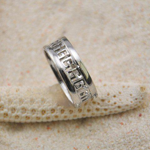 Ethic Style Simple Hollow Alloy Ring For Men and Women - AS THE PICTURE ONE SIZE