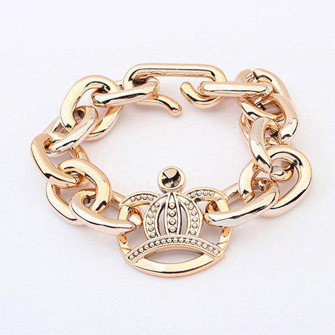 Stylish Chic Solid Color Crown Decorated Bracelet For Women - AS THE PICTURE