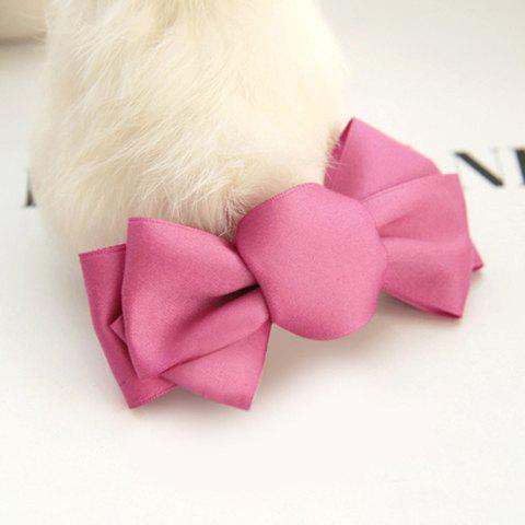 Sweet Solid Color Bowknot Hairpin For Women - PINK
