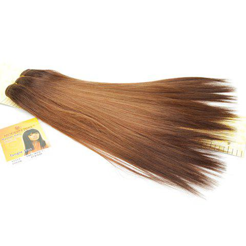 14 Inch Natural Silky Straight Light Brown Women's Long Hair Extension - LIGHT BROWN