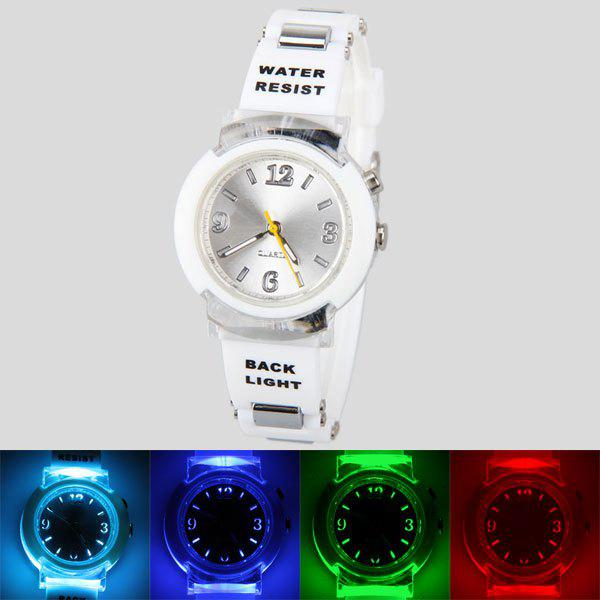 цены  80033 Tranparent Frame Quartz Watch with Rubber Band Silver Connection Buckle for Women
