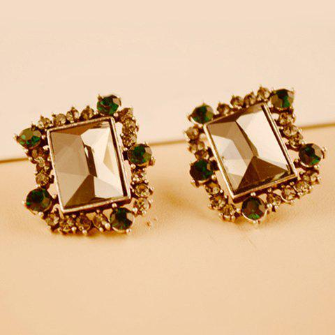 Pair of Diamante Faux Crystal Earrings For Women - AS THE PICTURE