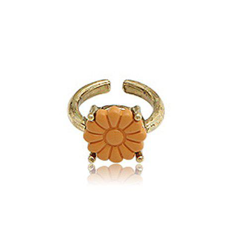 Cute Colored Flower Embellished Ring For Women - AS THE PICTURE ONE SIZE