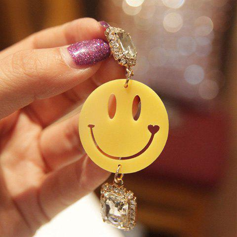 Pair of Cute Smiling Face Pendant Earrings For Women - AS THE PICTURE