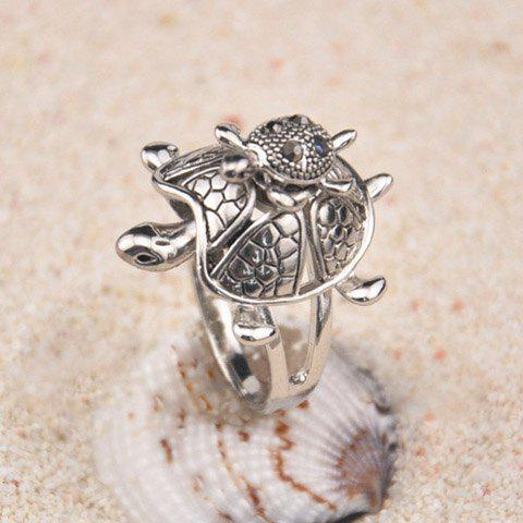 Rhinestone Tortoise Shape Ring - AS THE PICTURE ONE SIZE
