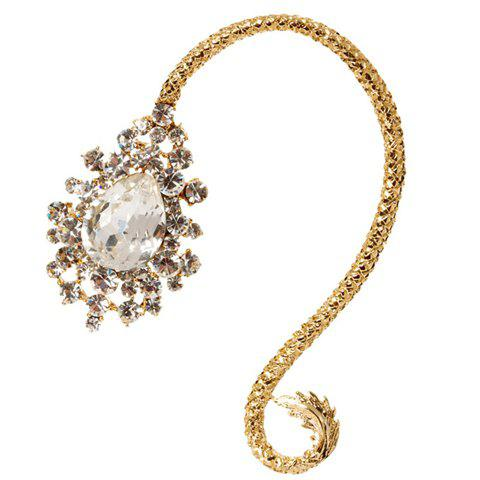 One Piece Delicate Drop Crystal Rhinestone Earring - AS THE PICTURE