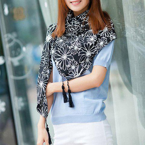 Exquisite Heronsbill Embellished Long Scarf For Women