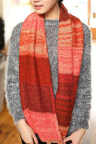 Chic Color Patchwork Scarf For Winter For Women - COLOR ASSORTED