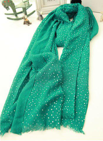 Fashion Small Dot Embellished Colored Long Scarf For Women