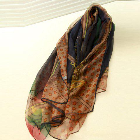 Cute Dot Embellished Long Scarf For Women - COLOR ASSORTED
