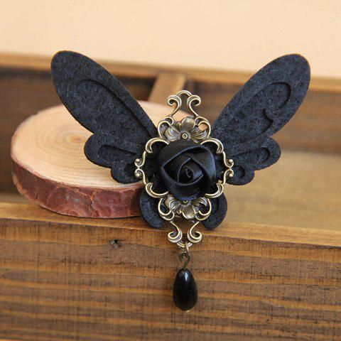 Retro Style Bead Pendant Butterfly Brooch For Women - AS THE PICTURE