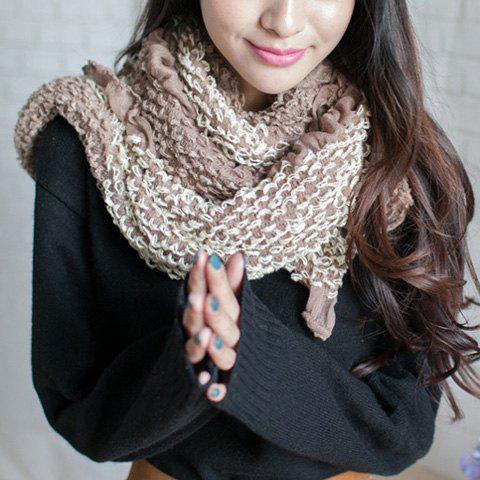 Chic Style Flounce Design Woolen Yarn Scarf - COLOR ASSORTED