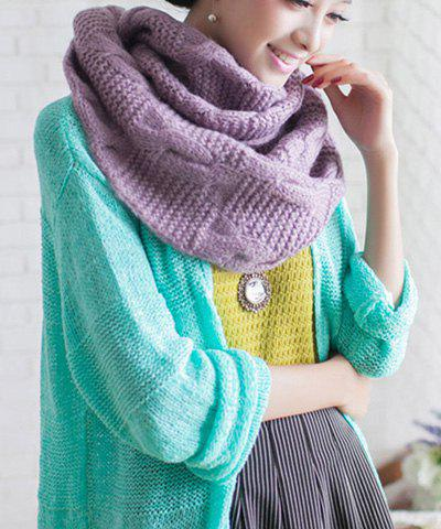 Hot Sale Knitted Hemp Flower Shape Woolen Yarn Scarf For Men and Women