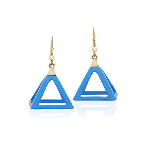 Pair of Trendy Colored Hollow Pendant Earrings For Women - COLOR ASSORTED
