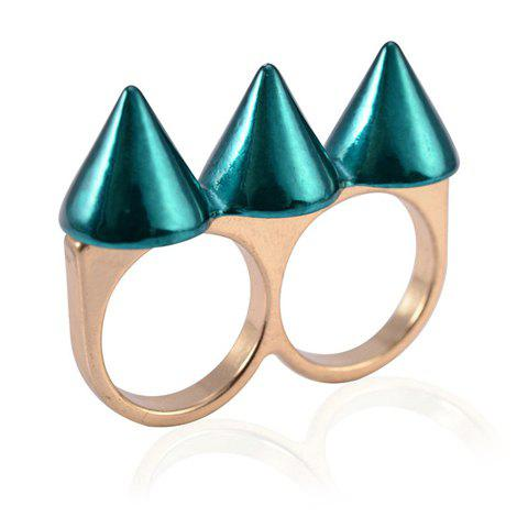 Chic Punk Rivet Decorated Ring For Women - COLOR ASSORTED ONE SIZE