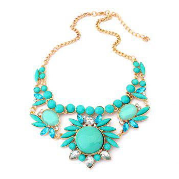 Elegant Chic Colored Flower Embellished Alloy Necklace For Women