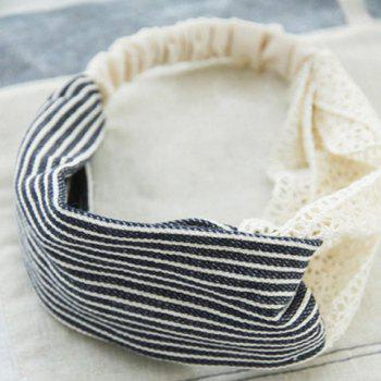 Fresh Style Striped Wide Hairband For Women - AS THE PICTURE AS THE PICTURE
