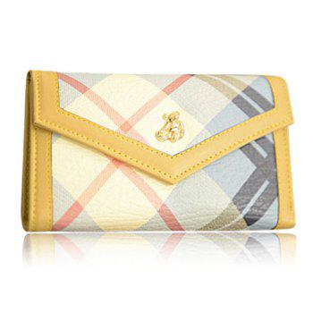 Korean Style Color Matching and PU Leather Design Women's Wallet