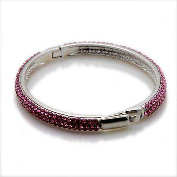 Exquisite Colored Rhinestone Cuff Bracelet For Women