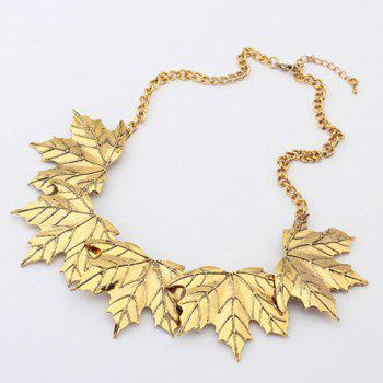 Characteristic Maple Leaf Shape Alloy Necklace