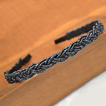 Simple Cute Beading Solid Color Hair Band For Women - COLOR ASSORTED COLOR ASSORTED