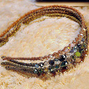 Stylish Fashionable Rhinestone Decorated Colorful Hairband For Women