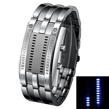 Men Watch Blue LED Time Date Indicate
